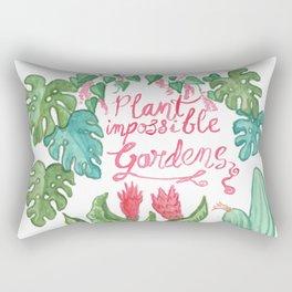 Plant Impossible Gardens Rectangular Pillow
