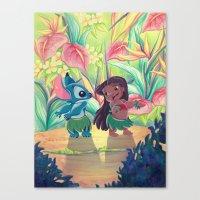 ohana Canvas Prints featuring Ohana by ArtByG