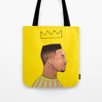 fresh prince Tote Bags featuring Fresh Prince by Fresh Prints