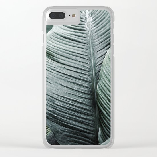 Banana Leaves Tropical Art Clear iPhone Case