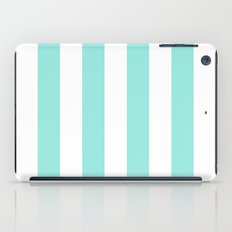 Stripe Tiffany Blue Bold Vertical iPad Case