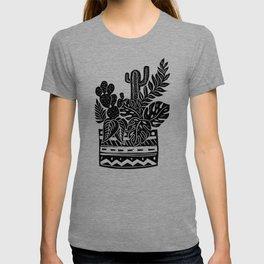 Botanical Pot Block Print T-shirt