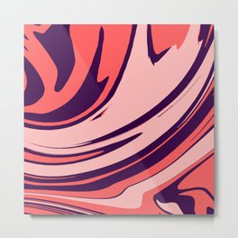 Abstract Free Flow 001 Metal Print