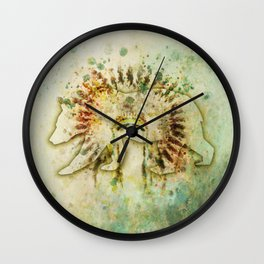 BEAR HEADDRESS Wall Clock