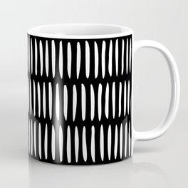 Classy Handpainted Stripes Pattern Black, Scandinavian Design Coffee Mug
