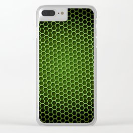 Honeycomb Background Green Clear iPhone Case
