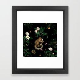 Monkey World: Amber-Ella Framed Art Print