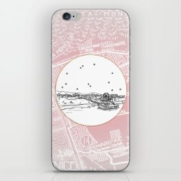 Santa Monica Pier, California City Skyline Illustration Drawing iPhone Skin