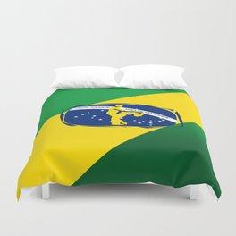 lets dance brazilian zouk flag design Duvet Cover