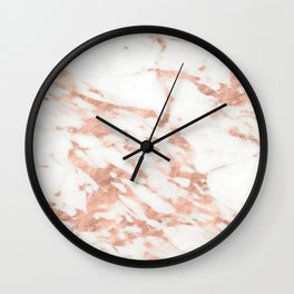 Taggia rose gold marble Wall Clock