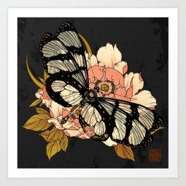 Glasswing Butterfly Art Print