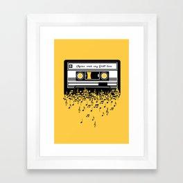 Retro Tape Framed Art Print