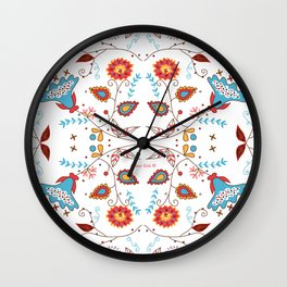 Spice Garden on White Wall Clock