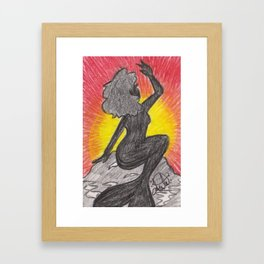 Sunrise Silhouette Framed Art Print