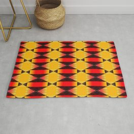 Geometric in Orange Rug