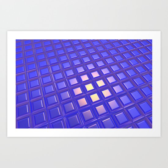 Patterned and Reflective Surface Art Print