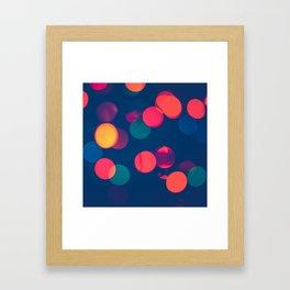 Bokeh Colourful Christmas Lights Framed Art Print