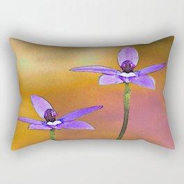 Australian Wax-lip Orchid Rectangular Pillow