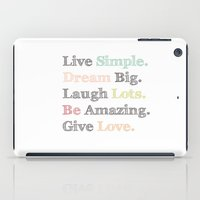 calendars iPad Cases featuring Inspiration Typography Quote Words Pastel  by Shabby Studios Design & Illustrations ..