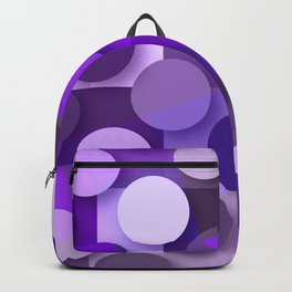 squares & dots violet Backpack