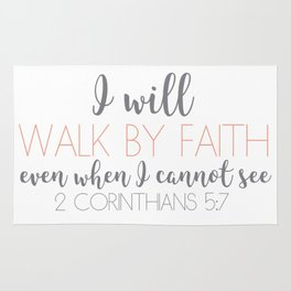 2 Corinthians 5:7 Rug