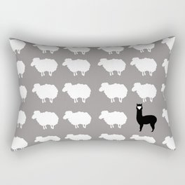 Don't be a sheep, Be a Llama Rectangular Pillow