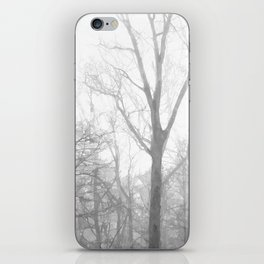 Black and White Forest Illustration iPhone Skin