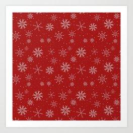 New Year Christmas winter holidays cute pattern Art Print