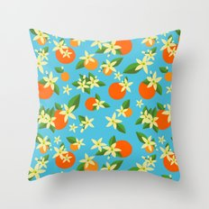 Orange Blossom Daydreams Throw Pillow