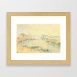 "J. M. W. Turner ""Lake Lucerne, with the Rigi"" Framed Art Print"