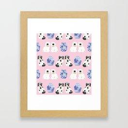 Staffordshire Dogs + Ginger Jars No. 4 Framed Art Print