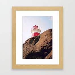 Lighthouse on Brier Island, Nova Scotia Framed Art Print