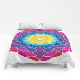 floral ornament. circular pattern Comforters