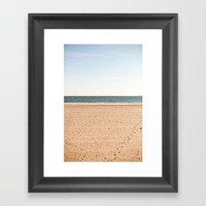 Sand, sea, sky Framed Art Print