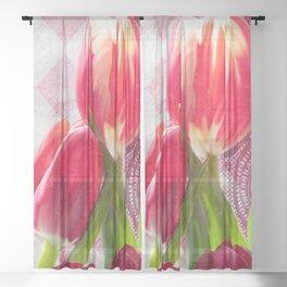 Harlequin Tulips Sheer Curtain