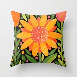 Textured Sunflower Throw Pillow