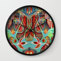 oasis Wall Clocks featuring Oasis by kristenheinlein