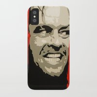 jack nicholson iPhone & iPod Cases featuring Jack Nicholson - Here's Johnny by Tipsy Monkey