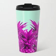 Funky Pineapples Metal Travel Mug