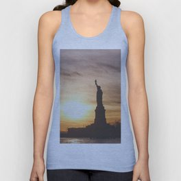 Lady at Sunset Unisex Tank Top