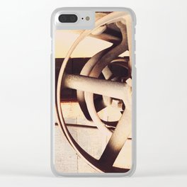 Industrial decor with vintage machine Clear iPhone Case