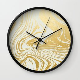 Gold Rush #society6 #decor #buyart Wall Clock