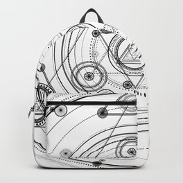 Sacred geometry and geometric alchemy design Backpack