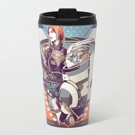 Mass Effect : Shep & Garrus v.2016 Travel Mug