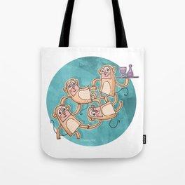 Funny Monkeys Tote Bag