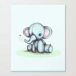 Elephant & Bee Canvas Print