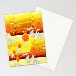 golden daisies pattern Stationery Cards