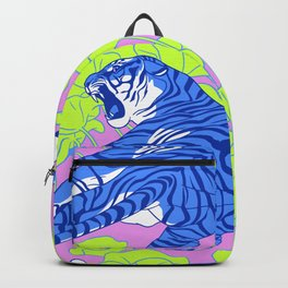 Neon Tigers and Water Lillies. Backpack