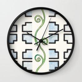 Vine and Trellis Wall Clock
