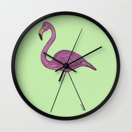 Floyd, le flamant Wall Clock